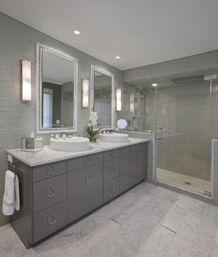 Modern Bathroom photo by Paula Caponetti Designs LLC