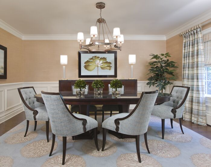 Cottage/Country Dining Room photo by Paula Caponetti Designs LLC