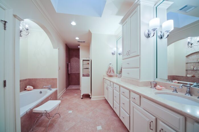 Coastal Bathroom photo by red river remodelers