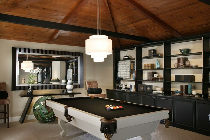 Eclectic Game/Rec Room photo by Benning Design