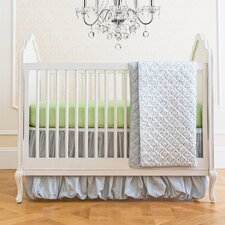 Garden Gray Classic 4 Piece Crib Bedding Set