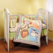 Monkey Jungle 4 Piece Crib Bedding Set