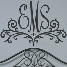 Personalized Scroll Monogram Wall Decal