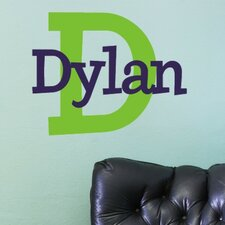 Personalized Dylan's Preppy Wall Decal
