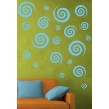 Swirly Swirls Set Wall Decal (Set of 30)