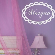Personalized Lace Monogram Wall Decal