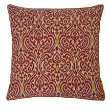 Geane Garnet Cotton Throw Pillow