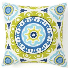 Suzani Henna Silk Throw Pillow