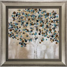 'A Teal Tree' Framed Graphic Art