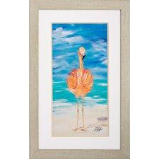 Flamingo 2 Piece Framed Wall Art Set