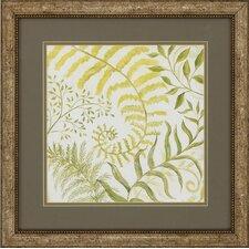 Fern Botanical 2 Piece Framed Graphic Art Set