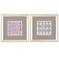 Purple Quatrafoil 2 Piece Framed Graphic Art Set