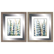 Pompom Botanical 2 Piece Framed Painting Print Set
