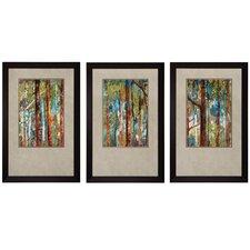 Woodland I / II / III 3 Piece Framed Painting Print Set