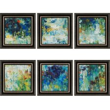 Falling Waters by Roth 6 Piece Framed Painting Print Set (Set of 6)