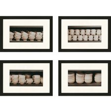 Vintage Ware Giclee by Sikes 4 Piece Framed Photographic Print Set
