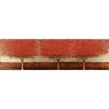 Blazing Trees Original Painting on Wrapped Canvas
