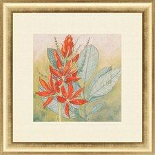 Crimson Tropical I Framed Painting Print