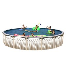 Georgian Round Deep Complete Above Ground Pool Package