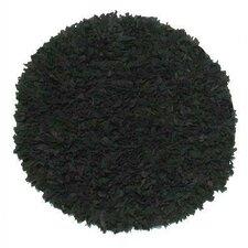 Thalassa Premium Leather Black Rug