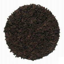Thalassa Premium Leather Dark Brown Rug