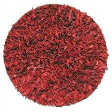Thalassa Premium Leather Red Rug