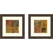 Organic Montage 2 Piece Framed Painting Print Set
