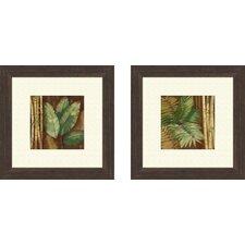 2 Piece Botanical Bamboo and Palms Wall Art Set