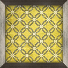 Ring Framed Graphic Art in Yellow and Grey