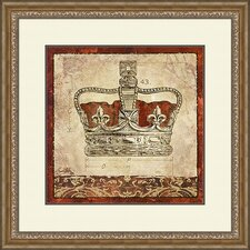 Crown 2 Piece Framed Painting Print Set