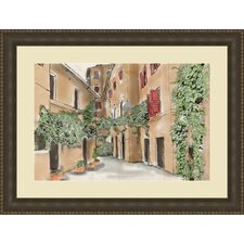 Italian Alley Flamed Print Of Painting