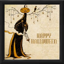 "Halloween ""Happy Halloween"" Framed Graphic Art"