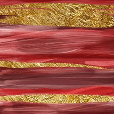 Crimson and Gold II Graphic Art on Canvas