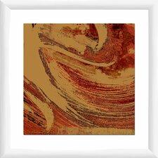 Crimson Wave I Framed Graphic Art
