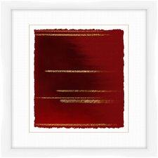 Crimson Stripes II Framed Graphic Art