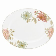 Painted Camellia Oval Platter
