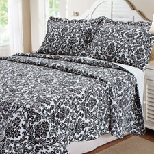 Damask 3 Piece Quilt Set