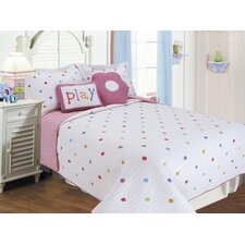 Multi-Colored Polka Dots Quilt Set