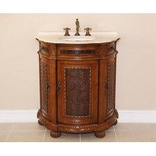 "Anna 31"" Single Demilune Bathroom Vanity Set"