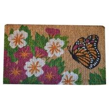 Woven Butterfly Garden Doormat