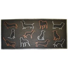 Colored Dog Doormat