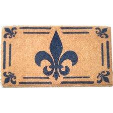 Woven Fleur-de-lis Doormat