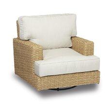 Leucadia Swivel Rocking Club Chair with Cushions