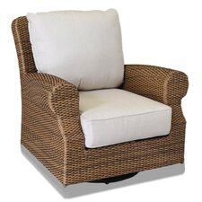 Santa Cruz Swivel Rocking Club Chair with Self Welt Cushions