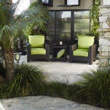 Malibu 3 Piece Deep Seating Group with Cushions