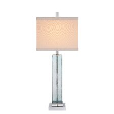 """34"""" H Table Lamp with Square Shade"""