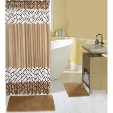 Rattan 15 Piece Shower Curtain Set
