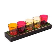 5-Light Warm-Tone Tealight Garden
