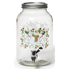 Winterberry Snowman Beverage Jar
