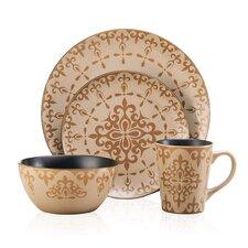 Vintage Scroll Everyday 16 Piece dinnerware set